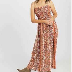 NWT Altar'd State Red Boho Maxi Dress Large